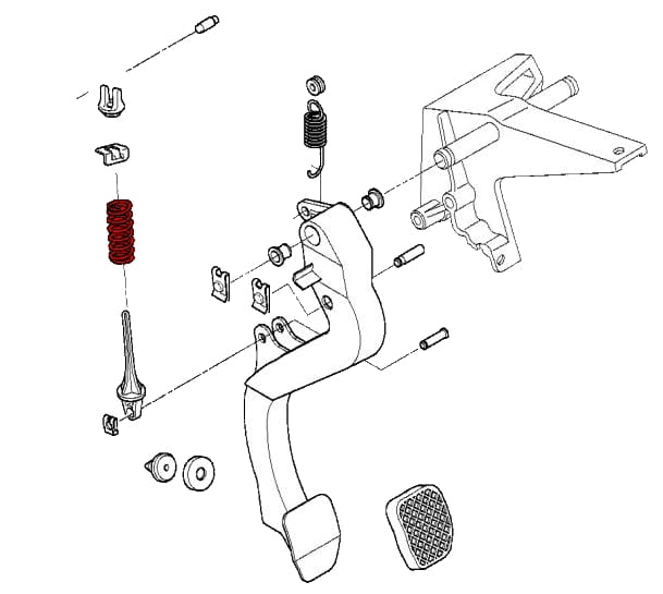 clutch pedal compression spring 21522227764