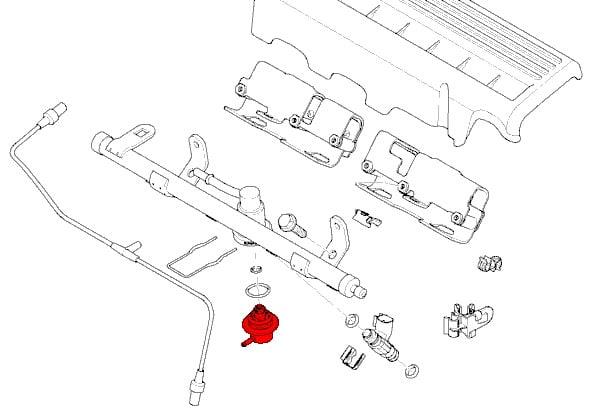 fuel pressure regulator 13531487238 genuine mini bmw. Black Bedroom Furniture Sets. Home Design Ideas