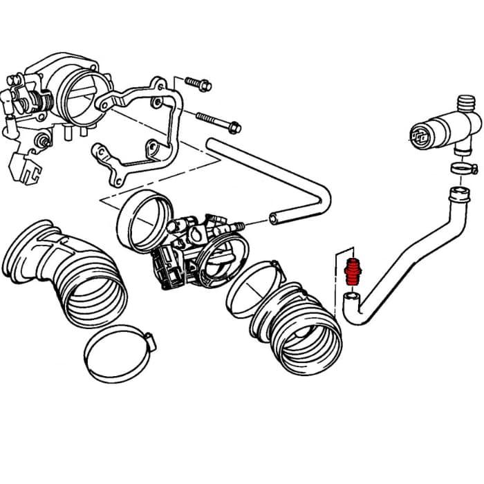 throttle housing tube connector 13541703703 genuine bmw 13 54 1 97 BMW 528I Parts throttle housing tube connector 13541703703 genuine bmw 13 54 1 703 703 pelican parts