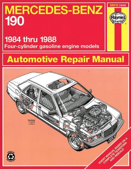 Haynes repair manual mercedes benz 190 1984 1988 for Books mercedes benz