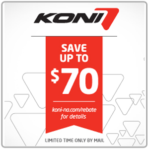Get Up To $70 Back with KONI!